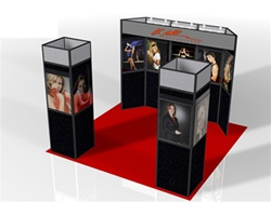 10x10 Custom Panel Plus Display with Towers and Backlit Header Kit