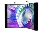 10ft ELP Curved Mural with Fabric End Panels Pop Up Kit