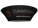 Tapered Circle Hanging Banner Sign