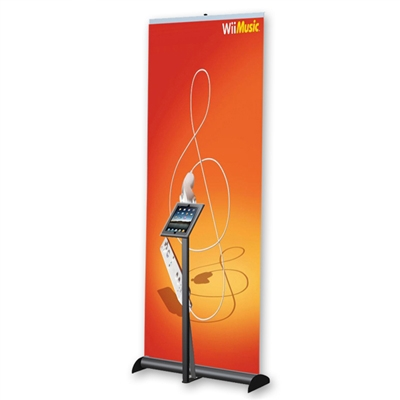 Tablet kiosk combine with Banner Stand