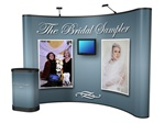 10ft Curved Pop Up Mural with Monitor Mount