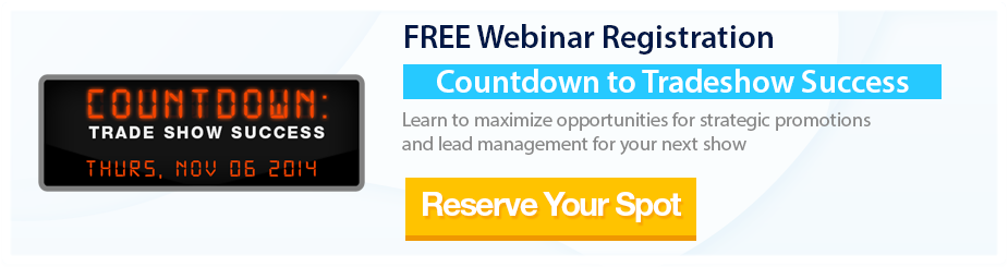FREE Webinar Registration - Countdown to Tradeshow Success