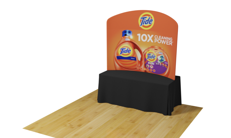 Table Top Waveline Tension Fabric Displays