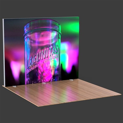 10ft Lumiwall LED Backlit Display with Printed SEG Fabric and Shipping Cases