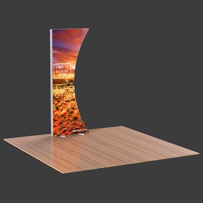 3x8 Curved Lumiwall LED Backlit Display with Printed SEG Fabric and Shipping Case