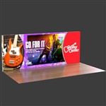 20ft. Curved Lumiwall LED Backlit Display Kit with Printed SEG Fabric and (3) Shipping Cases