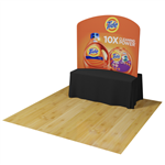 6ft Waveline Curved Table Top Display