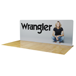 20ft Waveline Straight Tension Fabric Display Backwall