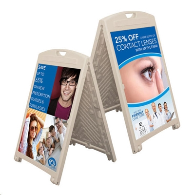 "27""W A-Frame Double-Sided Folding Sign"