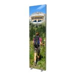 Free Standing Fabric Frame with Feet & Graphic