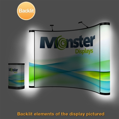 10ft ENERGY Backlit Pop Up Kit with End Caps