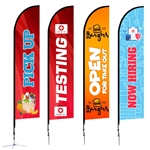 Feather Flag - Large 14' X Base Single-Sided Graphic Package