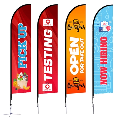 Feather Flag - Large 14'  Single-Sided Graphic Package