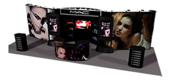 MAC Trade Show Booth by Monster Displays
