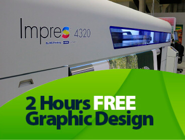 Complementary 2 Hours of Free Graphic Design Consultation with your order!